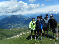Some of the group at the top of Mt Altissimo high above Lake Garda